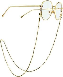 Yienate Bohême Chaînes de lunettes antidérapantes pour femme Chaîne Perles Chaîne de lunettes Accessoires de retenue Suppo...
