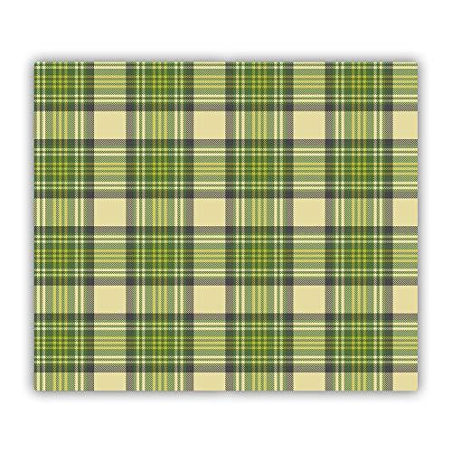 Tulup Vidrio Cubierta de la Cocina 60x52 cm Cerámica Placa de inducción Placa Protectora Tabla de Cortar para Cocina Resistente al Calor - - Rejilla Verde
