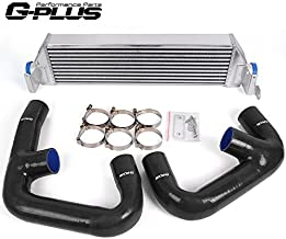 Twin Aluminum Turbo Performance Intercooler Upgrade + Intercooler Pipe Kit Replacement For VW Golf R GTI FWD MK7 2.0T 2015+
