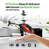 Footprintse Mini RC Airplane Elicottero a infrarossi Induzione USB Telecomando Helikopter-colore: rosso