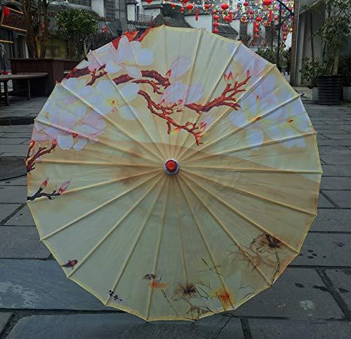 NJSDDB Regenschirm Seide Frauen Regenschirm Japanische Kirschblüten SeideAlten Tanz Regenschirm Dekorativen Regenschirm Chinesischen Stil Öl Papier RegenschirmModena