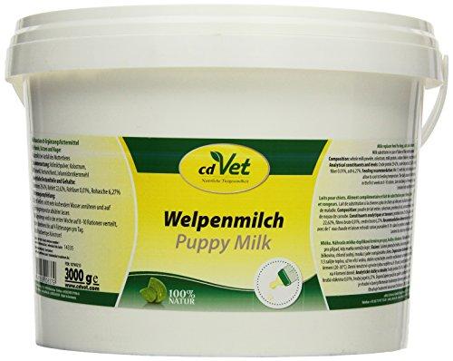 cdVet Naturprodukte Welpenmilch 3 kg - Hund, Katze, Nager - Milchaustausch-Ergänzungsgfuttermittel - Ersatzmilch - Anteil an hochwertigem Kolostrum - stabil bleibende Verdauung - Abwehrkomponenten -