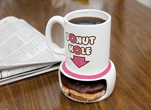 Original Donut Hole Mug, Ceramic Mug, Coffee Mug, Funny Novelty Gift