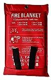 Toneeko Coperte antincendio in vetroresina per sopravvivenza di emergenza, protezione ignifuga e isolamento termico, progettata per cucina, camino, griglia, auto, campeggio(2x2m)
