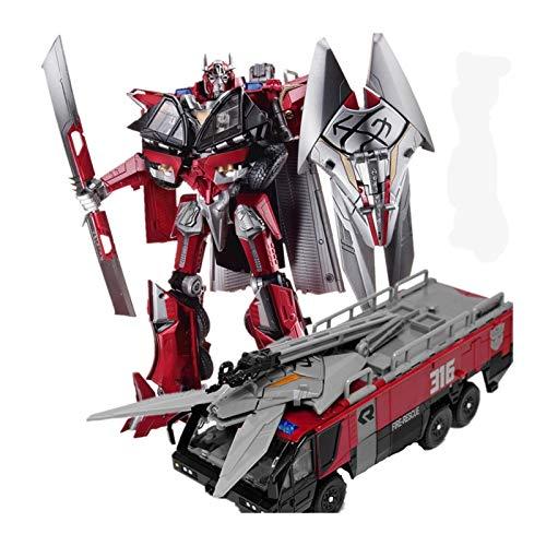 ghjkl Giōcàttōli Trànsfōrmêrs, Trasformazione Sentinel Prime Commander Movie Dark of The Moon Leader Action Figure Fire Truck Mode Model Toys