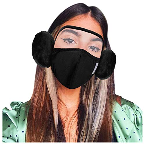 Gafas estilo visera capa antivaho transparente mascärilläss antipolvo de aire con válvula transpirable Facial Protección unisex, protección de moda para hombres y mujeres