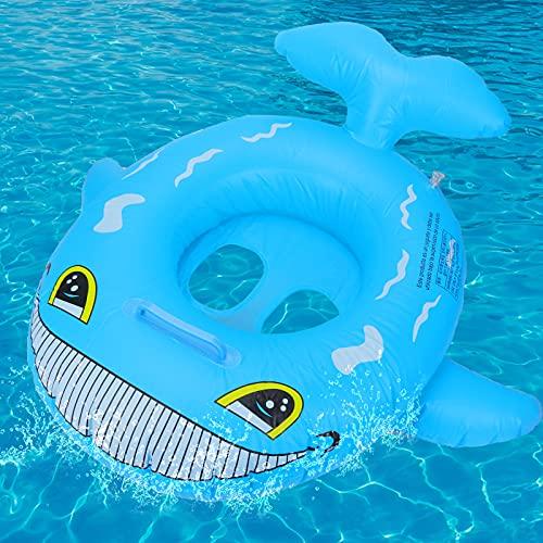 GUBOOM Baby Schwimmring, Schwimmsitz Kinder Spielzeug, Haifisch aufblasbarer Schwimmring, Kleinkind Schwimmhilfe Spielzeug für Kleinkind, für Kinder ab 6 bis 36 Monaten (Blau)