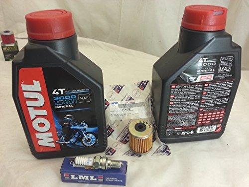 KIT TAGLIANDO LML star 4 T 200 olio filtro olio mot. candela