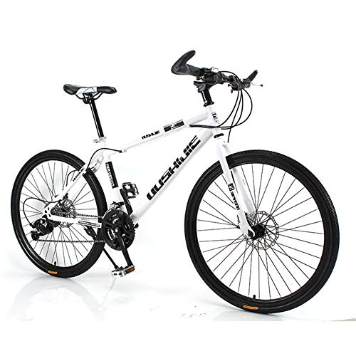 Check Out This AHAVINTAGE.COM Hybrid Bike Outdoor Sports Cycling Bicycle Dual Disc Brake (Color : Wh...