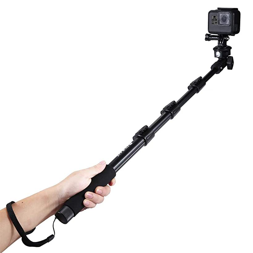 OUBAO for DJI Osmo Action Accessories Extendable Adjustable Pole Handheld Selfie Stick Monopod for GoPro HERO5 HERO4 Session Hero 5 4 3+ 3 2,for Xiaomi 120cm