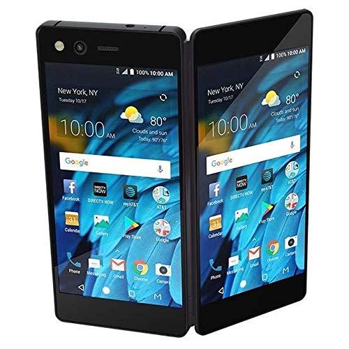 "ZTE Axon M Z999 (64GB, 4GB RAM) 5.2"" Dual Fold Screen, 20MP Camera, 4G LTE Single SIM GSM AT&T Unlocked Smartphone - US Warranty (Carbon Black) (Renewed)"