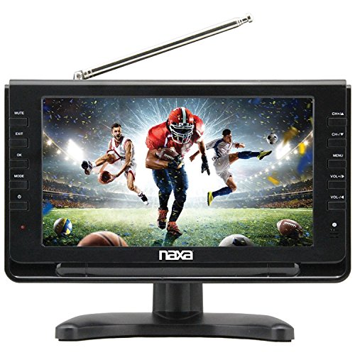 Naxa Electronics NT-110 10-inch Portable TV & Digital Multimedia Player with Car Package, Compatible with USB, SD Cards