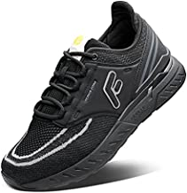 FitVille Wide Trail Running Shoes for Flat Feet Sports Sneakers for Men and Women Comfortable Support for Plantar Fasciitis - Stride Core Black