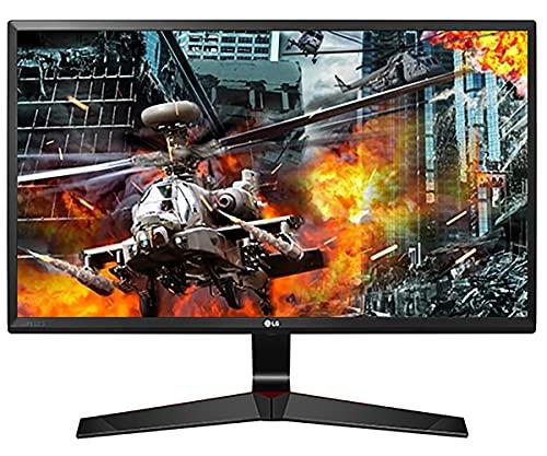"""LG 24MP59G Monitor Gaming 24"""" Full HD LED IPS, 1920x1080, AMD FreeSync 75Hz, VGA, HDMI, Display Port 1.2, Uscita Audio, Multitasking, Flicker Safe, Nero"""