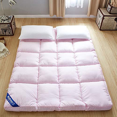 TENCMG Materasso Tatami - Materasso Pieghevole Futon - Coprimaterasso Imbottito e Trapuntato,Pink5cm,90x200cm