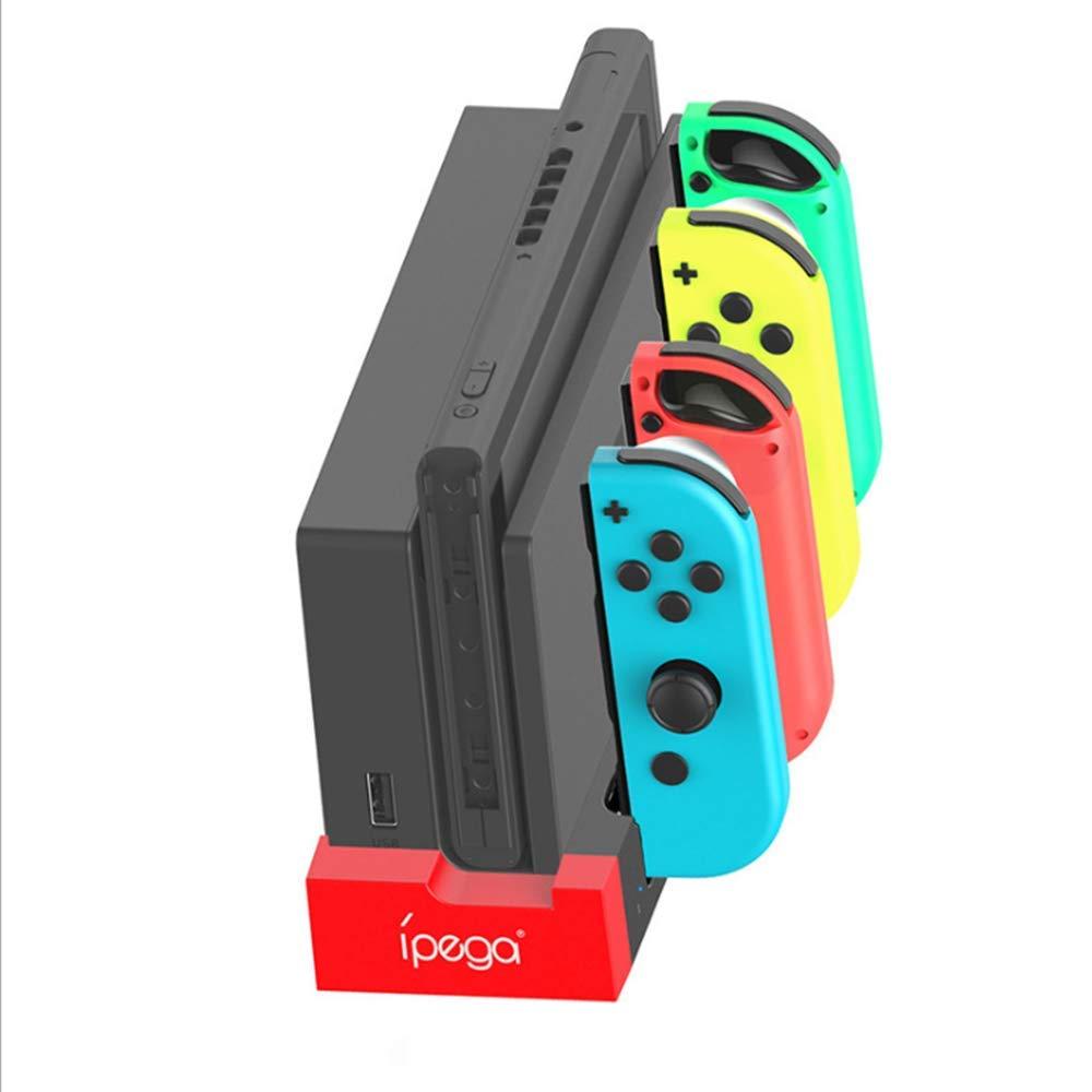 Cargador para Nintendo Switch JoyCon Base de carga Joy-Cons Dock con Indicador LED, 4 en 1 estación de carga compacta para consola de conmutación: Amazon.es: Videojuegos