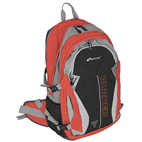 Spokey® Border Rucksack Reiserucksack Wanderrucksack Backpacker TrekkingRucksack, Farben/Colour:Rot