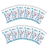 Sanitizing Wipes - Set of 12 Travel packs CoolWipes Baby Wipes with Plantain extract   Sanitizing, Moisturizing & Hypoallergenic Cleaning Wipes for Hands & Full Body   180 pcs total (Baby Wipes)