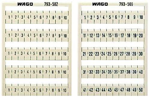 Wago Beschriftung für Etagenklemmen, Aufdruck waagerecht, 31-40 (10er)