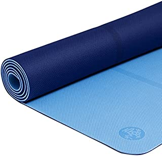 Manduka Welcome Yoga Mat – Premium 5mm Thick Yoga Mat with Alignment Stripe. Reversible, Lightweight with Dense Cushioning for Support and Stability in Yoga and Pilates.