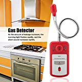 Combustible Gas Detector, PT8800A Red Semiconductor Detecting Flammable Gas Leak Sensor Tester Tool