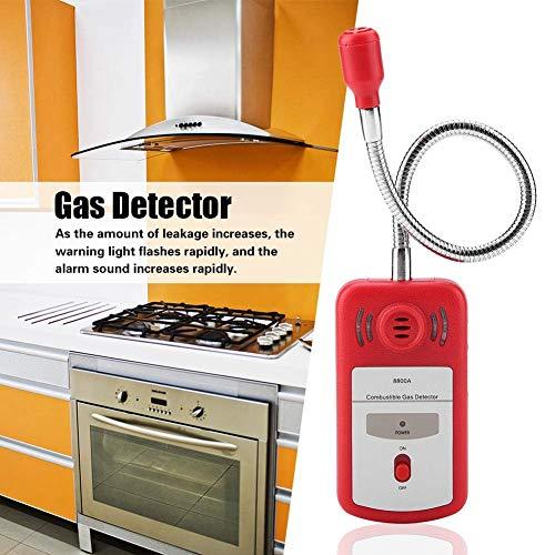 WYZXR Détecteur de gaz Combustible, PT8800A Semi-conducteur Rouge détectant l équipement de testeur de capteur de Fuite de gaz Inflammable -10~50 & deg; C