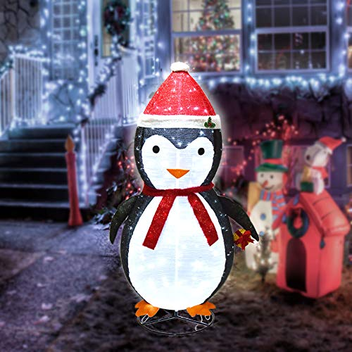 aonear 200 LED Christmas Penguin Decoration 6Ft Christmas Lighted Penguin with Clear Lights Plugin Christmas Light Up Penguin for Indoor Outdoor Yard Holiday Decor
