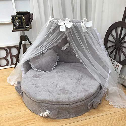 ZXL Hond Bed Hond Huizen Prinses Bed Mooie Huisdier Hond Kat Bedden Slaapbank Stof Stof Kant Huisdier Bed