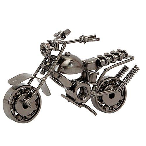 Vintage Modelo de la Motocicleta,Vintage Hecha a Mano Hierro Moto Modelo,para decoración de Ministerio del Interior, Regalos de fotografía Novio, Regalo de cumpleaños de Navidad,Silver