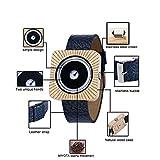 0 スクエアベルト木製腕時計小三針木製ウォッチレザーカジュアル木製腕時計環境OEMウッドウォッチ 0 (Color : A)