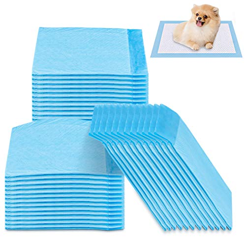 FancyWhoop Puppy Training Pads for Dog Pet Pee Absorbent Toilet Pee Wee Mat Anti Slip Leakproof for S (100 Pack 12.99 x 17.71 inch)