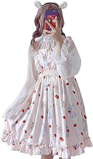2 pezzi vestito da donna Lolita coniglio fragola vestito carino