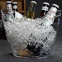 クリエイティブポータブルインゴットアイスバケツ、ワイン、シャンパン、アイス・キューブバー、ホームサイズのバケツ、プラスチック透明3L 氷のバケツ (Color : Transparent)