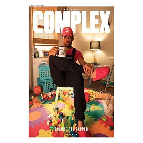 Carteles e impresiones de la portada de la revista Chance The Rapper, póster artístico, pintura en lienzo, decoración del hogar, 50x75cm sin marco