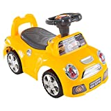 Lil' Rider Ride on Car- Toy Low Sitting Walking Car with Steering Wheel, Lights, Sounds, Music for Babies, Toddlers, Learning to Walk, Yellow (80-YF-17081365)