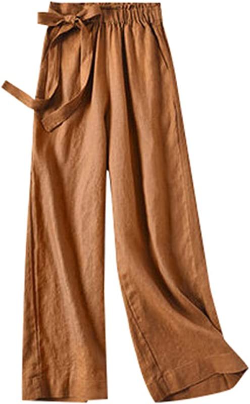 ZOMUSAR 2019 Pants For Lady Casual Womens Elastic Waist Cropped Trousers Bottoms Sports Wear Pants