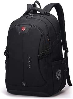 Sturdy Fashian Male Computer Backpack Schoolbag Travel Handbag Waterproof Shoulder Handbag Large Capacity Commercial Large Capacity (Color : Black)