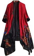 NREALY Cardigan Womens Ethnic Floral Tassel Cardigan Coat Ladies Casual Loose Jacket Outwear
