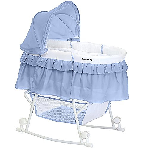 Dream On Me Lacy Portable 2-in-1 Bassinet, Serenity