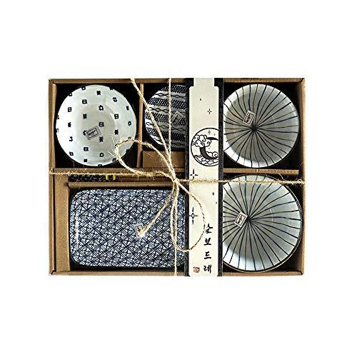 Watenkliy, set di stoviglie giapponesi per sushi in porcellana, 6 pezzi (stile 4)