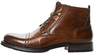 Jack & Jones Jfwrussel Mid Leather Cognac, Bottine Homme