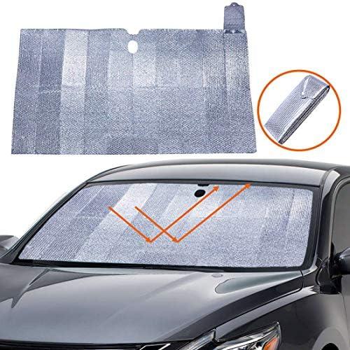 Big Hippo Windshield Sun Shade Accordion Folding Car Sun Shade Blocks UV Rays Sun Visor Protector product image