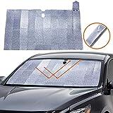 Big Hippo Windshield Sun Shade - Accordion Folding Car Sun Shade Blocks UV Rays Sun Visor Protector, Keeps Your Vehicle Cool-59 x 31.5 Inch