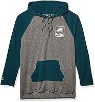 Ultra Game NFL Philadelphia Eagles Mens Fleece Hoodie Pullover Sweatshirt Henley, Team Color, Medium