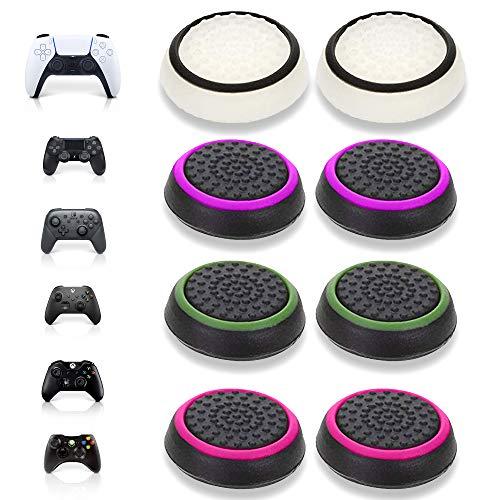 MatoSan 8 Pink & Friends Grip Kappen Zubehör Set Aim Kontrolle Assist für Xbox Switch PS5 PS4 Controller Sticks FPS Boost Joystick Schutzkappen