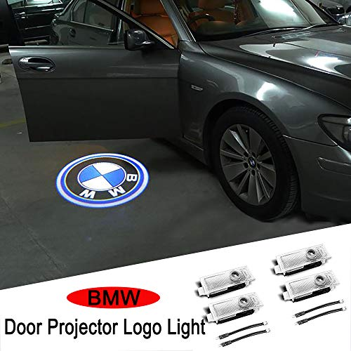 Car Door Light Logo Projector Ghost Shadow Welcome Lights For BMW Compatible X1/X3/X4/X5/X6/3/4/5/6/7/Z/GT Series(4-Pack)