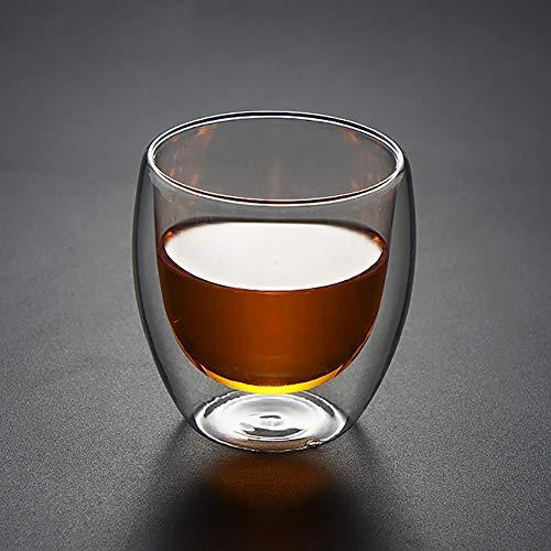 nulala dubbelwandige glazen, geïsoleerde dubbelwandige glazen hittebestendige cappuccino latte thee drinken thermobeker