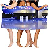 130 * 80cm (52x32 Pulgadas) Toalla de baño Bolera Toalla de baño de Alta absorción para Playa Hogar Baños Piscina Gimnasio