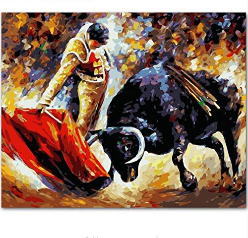 Pintura Por Números Taurinos Resumen Pintado A Mano Pintura De La Lona Pintada A Mano Inicio Arte De La Pared Imagen Para La Sala De Estar