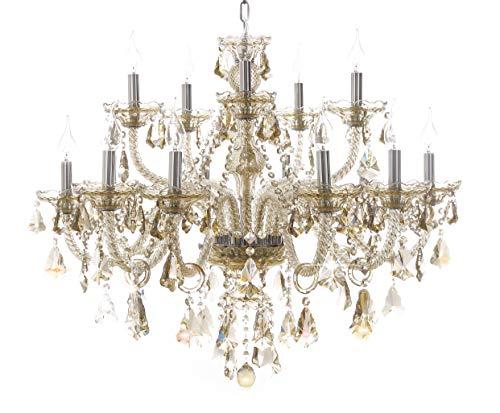 Generic Island Lights Crystals Chandelier 15 Lights Ceiling Fixtures Color Cognac ¡